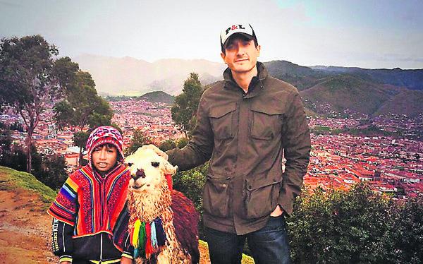Sasha Roiz visit to Peru