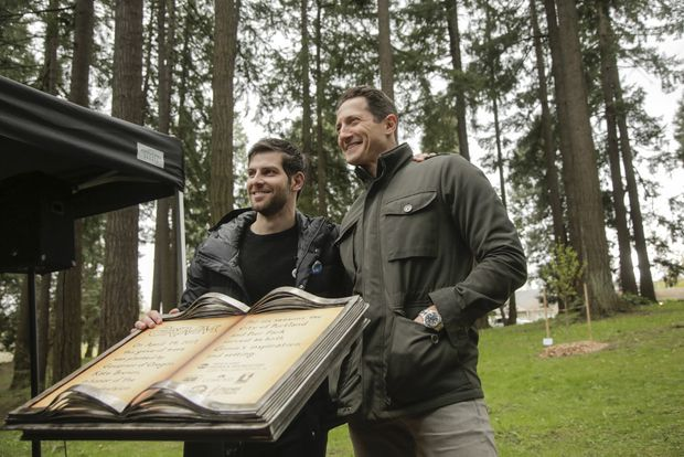 "Portland, Oregon Celebrates Grimm with ""Grimm Grove"" and Plaque at Pier Park"